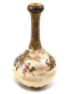 Kinkozan Pair of Military Massacre Signed Japanese Satsuma Vases