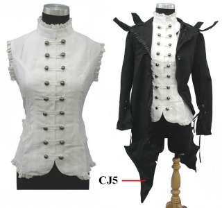 v2, white lady Corset gothic lolita vest
