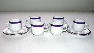 Polish Porcelain Demitasse Set of Four w/2extra Cups