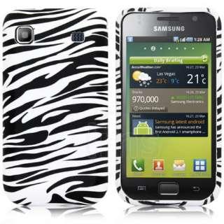 Black Zebra Gel Case Cover For Samsung Galaxy S Plus i9001 + LCD Film