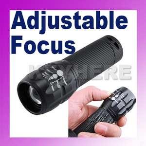 Adjustable Focus Zoom LED Lamp Light Torch Flashlight