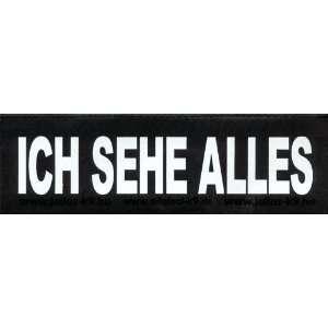 ICH SEHE ALLES 2x Logos klein weiß/reflektierend für Julius K9