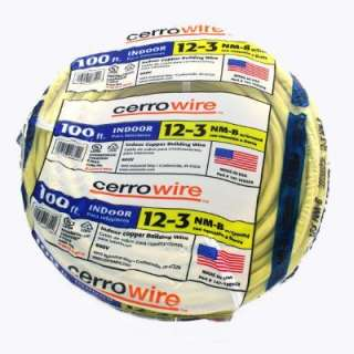 Cerrowire 100 Ft. 12/3 NM B Wire 147 1603CR at The Home Depot