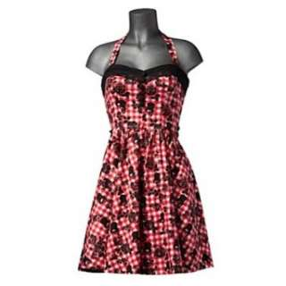 Hell Bunny Kleid AXEL MINI DRESS red gingham  Bekleidung