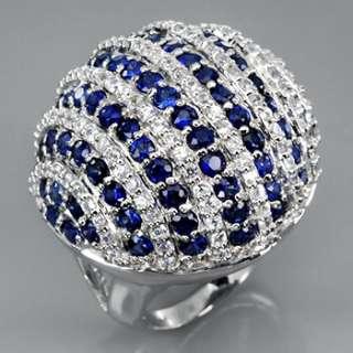 Stunning Natural Blue Sapphire & White Zircon from Africa & Cambodia