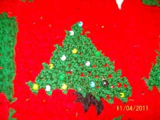Decorated CHRISTMAS TREE Sweater/Dress w/Ruffles