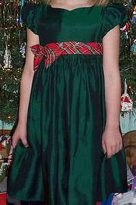 Iridescent Taffeta Green Holiday FANCY Dress Girl Sz 6 LAYERED