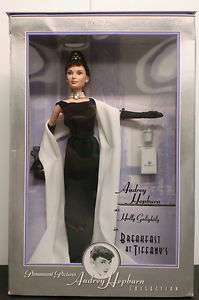Audrey Hepburn Collection Black Evening Gown Barbie Mattel Breakfast