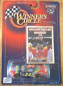 JEFF GORDON NASCAR MILLION DOLLAR WINNER 164 SCALE CAR