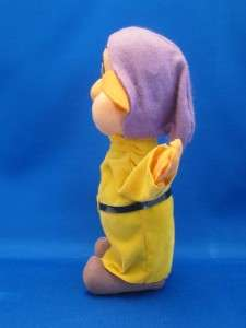 Vintage Walt Disney Productions Dopey Doll Snow White Dwarf Felt