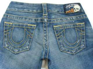 NWT TRUE RELIGION Womens Premium Jeans Vintage Gold Morgan Flare