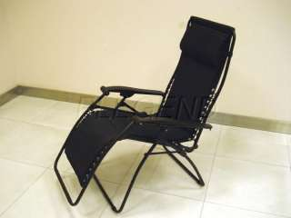 Zero Gravity Recliner Lounge Garden Patio Chair BLACK 2