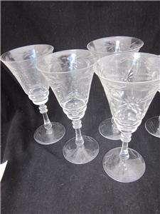 Bryce 865 Stem Cut Floral Design Wine Water Goblets