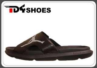 Nike Jordan RCVR Slide Black Silver 2012 New Mens Sandals Slippers