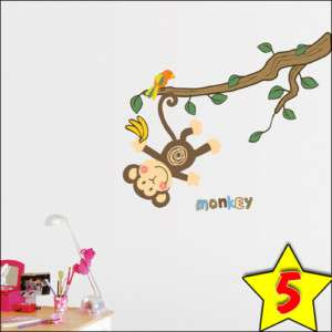 Monkey Tree Wall Stickers Home Vinyl decals Kids Room