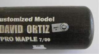 David Ortiz 2009 Game Used Bat in Shadow Box Steiner MLB Auth