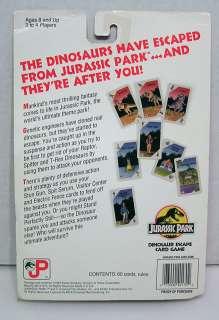 1993 JURASSIC PARK Dinosaur Escape Card Game  60 Cards & rules