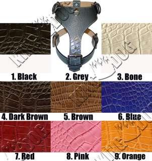 Gator Leather Dog Harness Plain Pitbull Choose From 9 Colors