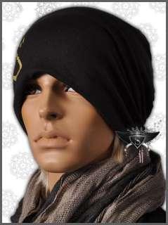 AM764 Black Cotton Hip Hop Cool Beanie Mens Hat Cap