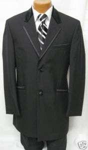 New Mens Andrew Fezza 2 Button Wool Tuxedo Jacket 38S