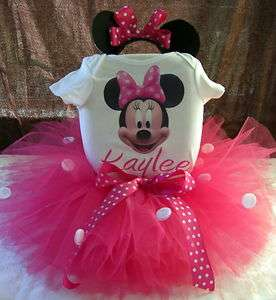 1ST BIRTHDAY MINNIE MOUSE TUTU OUTFIT DRESS ANY AGE
