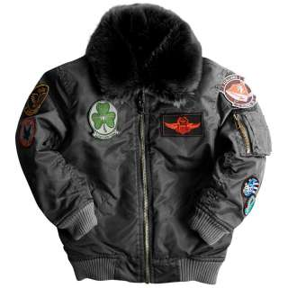 KIDS MAVERICK FLIGHT JACKET COLOR COCOA, RUST, IRON BOYS