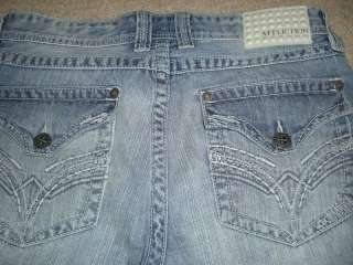 Affliction Mens Cooper VTG relaxed boot jeans x long 33