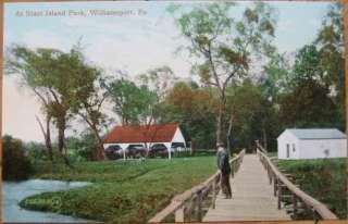 1910 Postcard Starr Island Park Williamsport, Penn, PA