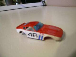 Slot Cars AFX Datsun 240Z # 46 Red White and Blue Body + other bodies