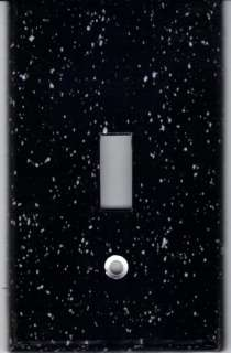 BLACK GRANITE PRINT LIGHT SWITCH PLATE COVER