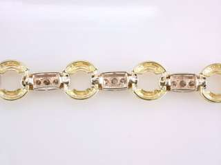Genuine Diamond 1.50ct 14K Yellow & White Gold Ladies Tennis Bracelet