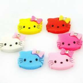 B0367 (25 pcs) Upick Color Resin Hello Kitty Flat Back Cabochon 20MM