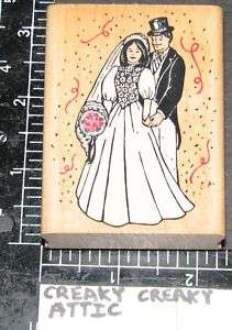 WEDDING COUPLE RUBBER STAMP INKADINKADO