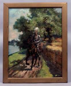 American Antique Impressionist Oil Painting Paul Bernard King