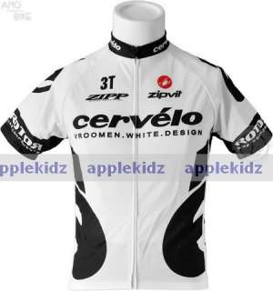 CERVELO WHITE BIKE CYCLING JERSEY + BIB SHORTS szS 3XL