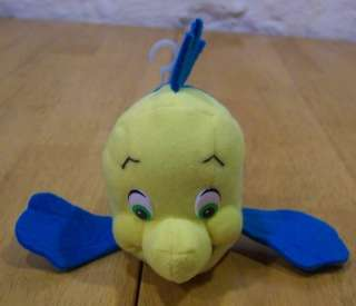 Disney Little Mermaid FLOUNDER 6 Plush Stuffed Animal