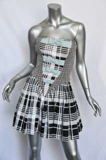 GIANNI VERSACE COUTURE Strapless Pleated TUXEDO DRESS+Taffeta Skirt
