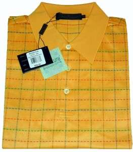 Uomo NWT L 100% Cotton Short Sleeve Mens Golf Polo Shirt Lively