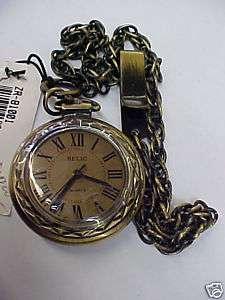 Relic Mens Pocket Watch ZR81001 Gold NEW Rare |