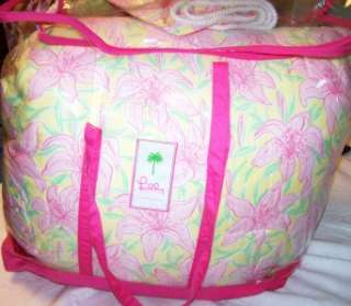 PULITZER PALM BEACH QUEEN COMFORTER PINK CABANA FLORAL FROM FINE HOME