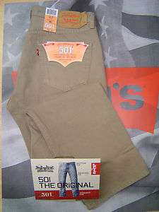 LEVIS 501 MENS ORIGINAL FIT BUTTON FLY JEANS TIMBER WOLF