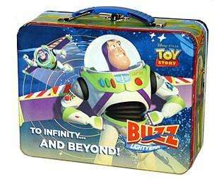 New Toy Story 3 Lunch Box Buzz Lightyear Tin Box Toy Tote Metal Snack