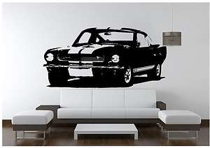 Shelby 65 Mustang GT350H Muscle Car Hot Rod V8 Vinyl Wall Art Decal