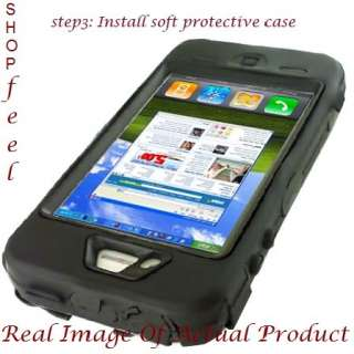 FOR IPHONE 4 BLACK DOUBLE LAYER SHOCK PROOF MOBILE PHONE CASE COVER