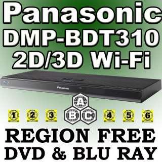 3D DMP BDT310 Multi Zone All Region Code Free DVD Blu Ray Player Wi Fi