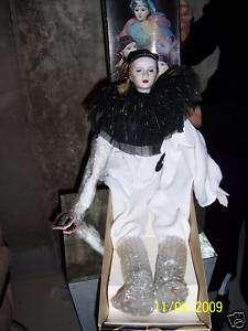 Black & White Clown/Jester by Porcelain Elegance   MINT