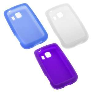 GTMax 3x Soft Silicone Skin Cover Cases(Purple+Blue+Clear