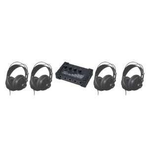 CAD Audio HP 310 Bundle of Four MH310 Studio Headphones and One HA4