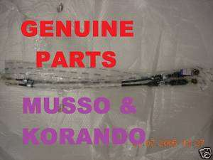Ssangyong Daewoo Musso Korando gear change cables set