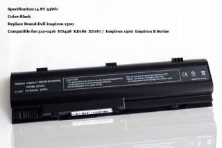 Brand New Replacement Laptop Battery for Dell Inspiron 1300 B120 B130